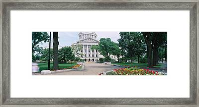 State Capital Building, Madison Framed Print by Panoramic Images