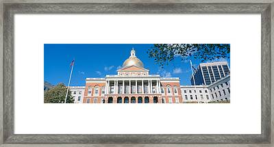 State Capitol, Boston, Massacushetts Framed Print
