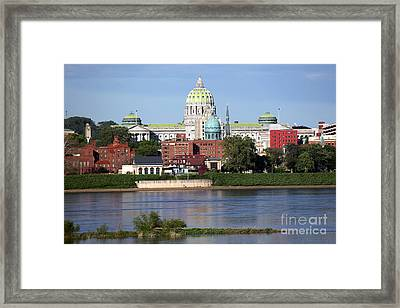State Capitol Building Harrisburg Pennsylvania Framed Print by Bill Cobb