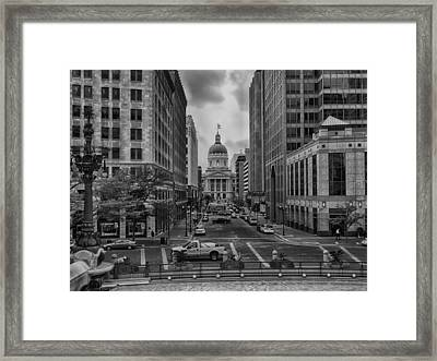 Framed Print featuring the photograph State Capitol Building by Howard Salmon