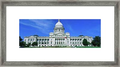 State Capitol Of Arkansas, Little Rock Framed Print