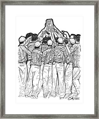 Framed Print featuring the drawing State Champions by Calvin Durham