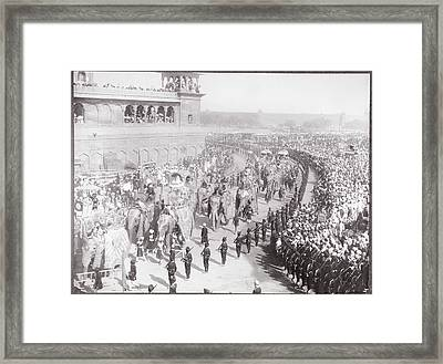 State Entry Into Delhi Framed Print