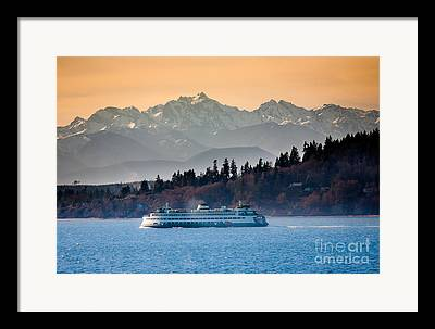 Olympic Mountains Framed Prints