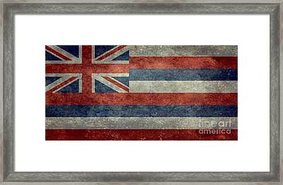 State Flag Of Hawaii Vintage Version Framed Print