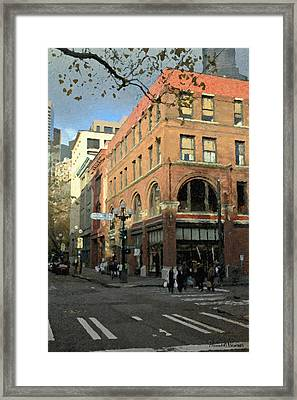 State Hotel At S. Washington St. Framed Print by Marvin C Brown