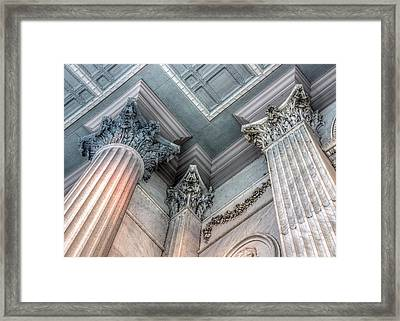 State House Exterior Columns Framed Print by Rob Sellers