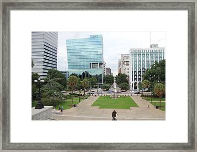 State House Lawn Framed Print
