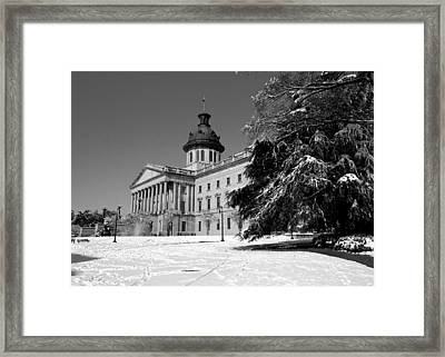 State House Snow Framed Print by Joseph C Hinson Photography