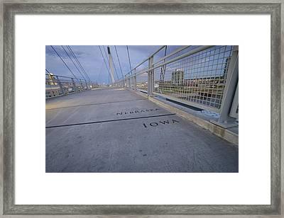 State Line Framed Print