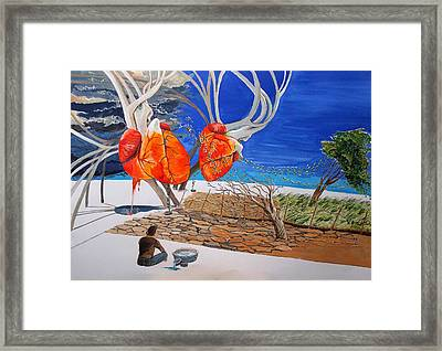 State Of Emotion The Pulse Let It Work... Framed Print by Lazaro Hurtado