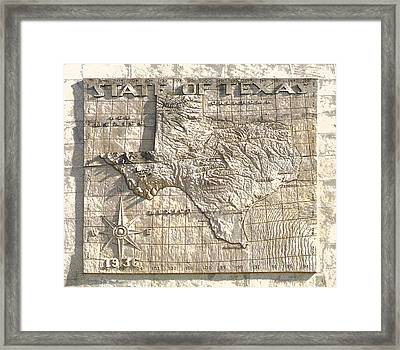 State Of Texas Map  Framed Print