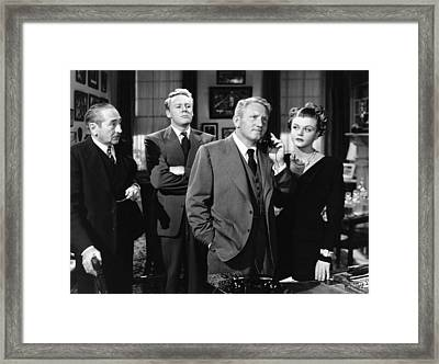 State Of The Union, From Left, Adolphe Framed Print by Everett