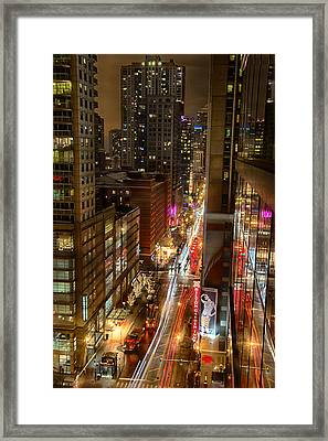 State Street - Chicago - 12-14-13 Framed Print
