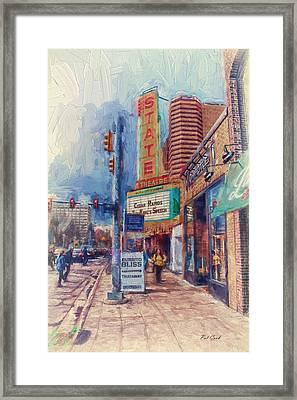 State Street Impasto Framed Print