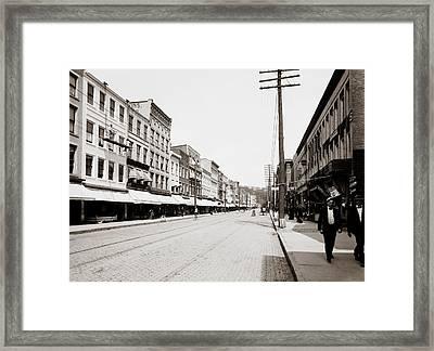 State Street - Ithaca New York 1900 Framed Print