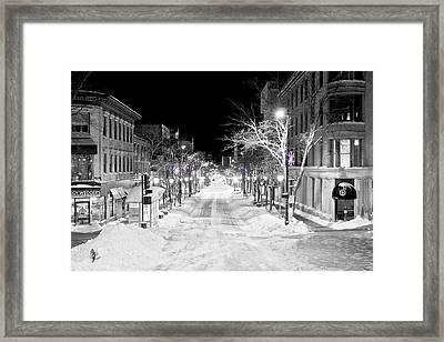 State Street Madison Framed Print