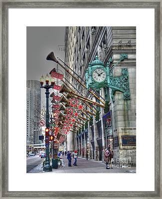 State Street That Great Street Framed Print by David Bearden
