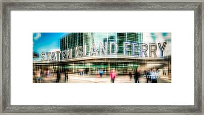Staten Island Ferry Ld Framed Print by Hannes Cmarits
