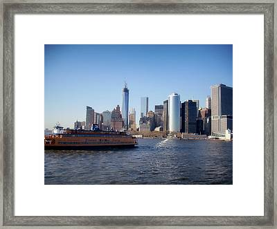 Staten Island Ferry Framed Print by Mountain Dreams