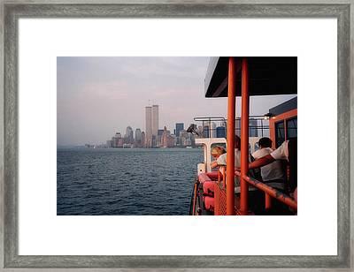 Staten Island Ferry View Framed Print