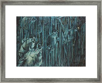 States Of Mind Those Who Stay, 1911 Oil On Canvas Framed Print by Umberto Boccioni