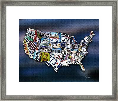 States Framed Print by Robert Smith
