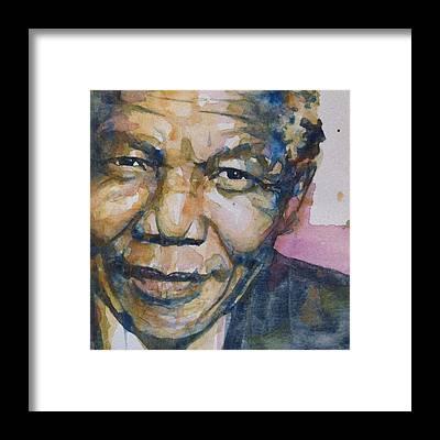 Nelson Mandela Framed Prints
