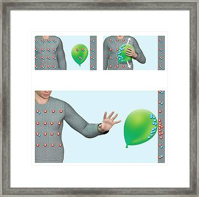 Static Electricity Framed Print by Claus Lunau
