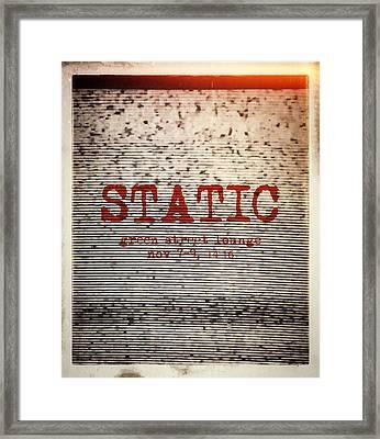 Static Framed Print by H James Hoff