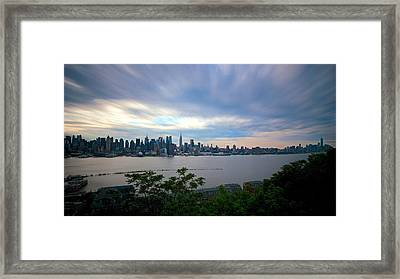 Static Skyline Moving Sky Framed Print by Mark Garbowski
