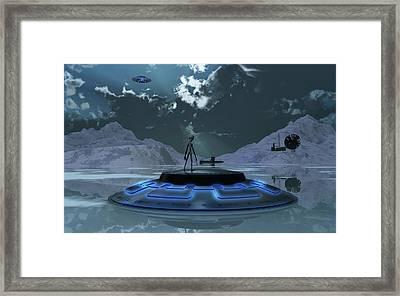 Station 211 Alien Nazi Base Located Framed Print by Mark Stevenson