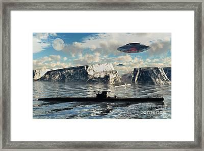 Station 211 Is A Nazialien Secret Base Framed Print by Mark Stevenson