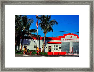 Station 3 Framed Print by Andres LaBrada