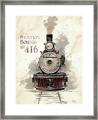 Station Bound No.416 Framed Print