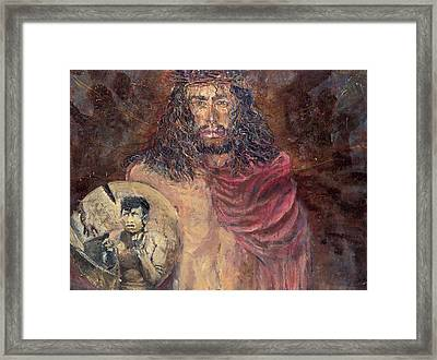 Station I Jesus Is Condemned To Death Framed Print