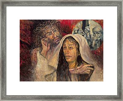 Station Iv Jesus Meets His Mother Framed Print