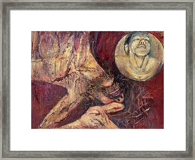 Station Ix Jesus Falls For The Third Time Framed Print