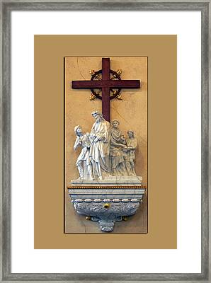 Station Of The Cross 01 Framed Print by Thomas Woolworth