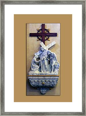 Station Of The Cross 06 Framed Print by Thomas Woolworth