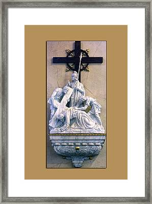 Station Of The Cross 07 Framed Print by Thomas Woolworth