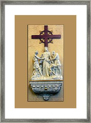 Station Of The Cross 10 Framed Print by Thomas Woolworth