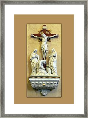 Station Of The Cross 12 Framed Print by Thomas Woolworth