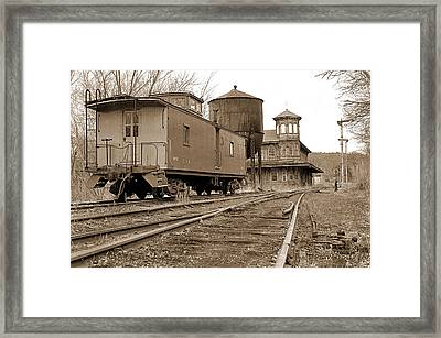 Station Portrait Framed Print by Mike Flynn