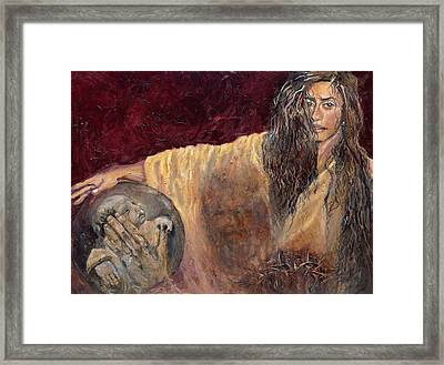 Station Vi Veronica Wipes The Face Of Jesus Framed Print by Patricia Trudeau