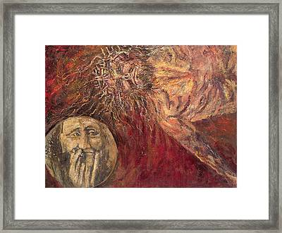 Station Vii Jesus Falls For The Second Time Framed Print