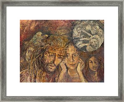 Station Viii Jesus Meets The Women Of Jerusalem Framed Print