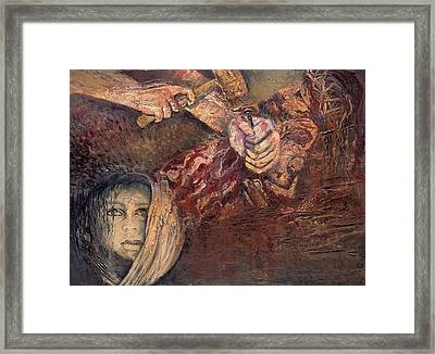 Station Xi Jesus Is Nailed To The Cross Framed Print