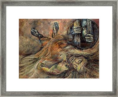 Station Xiv Jesus Is Laid In The Tomb Framed Print by Patricia Trudeau