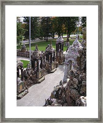 Stations At Grotto Of Redemption Framed Print by Dusty Reed
